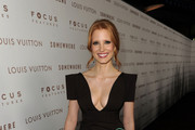 Actress Jessica Chastain arrives at Focus Features'