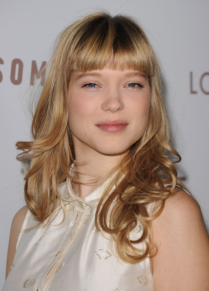 More Pics of Lea Seydoux Charm Bracelet (4 of 13) - Bracelets Lookbook - StyleBistro [hair,hairstyle,blond,face,long hair,bangs,brown hair,layered hair,eyebrow,chin,arrivals,lea seydoux,somewhere,arclight hollywood,california,focus features,premiere,premiere]