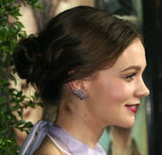Carey Mulligan showed off a romantic loose bun at the premiere of 'Suffragette.'