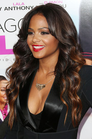 Christina Milian oozed an ultra-feminine vibe with this fab curly 'do during the premiere of 'Baggage Claim.'