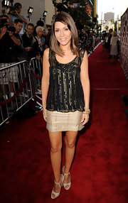 Marisol showed off her sequined top while hitting the red carpet at the Los Angeles Film Festival.