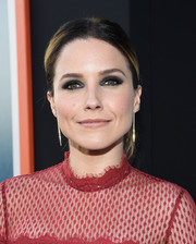 Sophia Bush loaded up on the eyeshadow for a goth beauty look.