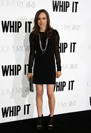 Ellen Page paired her sexy Alexander Wang Slim Grommet dress with these Cavat boots.