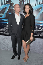 Emma Heming was the epitome of classic chic in her skater-style LBD at the premiere of the HBO documentary 'His Way' in LA.