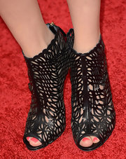 Carice Van Houten wore a pair of cutout ankle booties for a cool and bold look on the red carpet.
