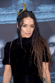 Lisa Bonet rocked ombre dreadlocks, completed with a moon fascinator, at the 'Game of Thrones' season 6 premiere.