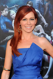 Carrie Preston showed off her fiery red locks while walking the red carpet at the 'True Blood' premiere.