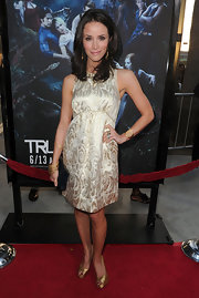 Abigal Spencer showed off her metallic cocktail dress while hitting the 'True Blood' premiere in LA.