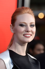 Deborah Ann Woll's soft strawberry locks looked pretty and smooth when pulled back into a high ponytail.