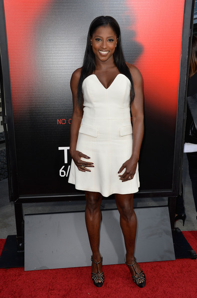 More Pics of Rutina Wesley Long Straight Cut (1 of 8) - Long Straight Cut Lookbook - StyleBistro