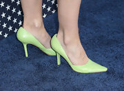 Lauren Bowles opted for these fun neon green pumps while at the 'Veep' season 2 premiere.