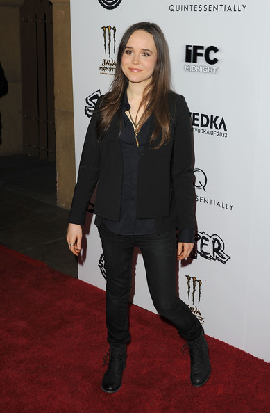 More Pics of Ellen Page Long Curls (3 of 19) - Ellen Page Lookbook - StyleBistro
