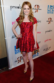 Fallon Goodson was a doll at the 'L!fe Happens' premiere in this vibrant fit-and-flare dress.