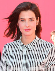 Cobie Smulders wore her hair in casual windswept layers when she attended the premiere of 'The Lego Movie.'
