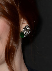 Bryce Dalls Howard's emerald and diamond studs were an elegant red carpet choice for the young star.