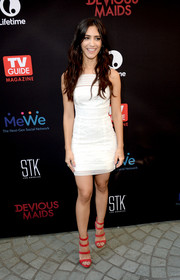 Sol Rodriguez put her slim figure on display in a fitted white mini dress during the premiere of 'Devious Maids' season 4.