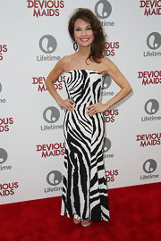 Susan Lucci opted for big and bold patterns when she wore this black-and-white zebra-print dress.