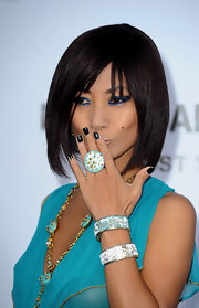 Bai Ling paired her bangle bracelets with a cocktail ring.