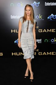 Kim Raver wore this dotted silk dress to the LA premiere of 'The Hunger Games.'