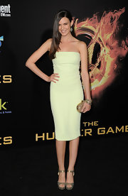 Odette Annable wore this strapless seafoam dress to the LA premiere of 'The Hunger Games.'