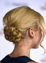 Peyton List attended the 'Hunger Games: Mockingjay Part 1' premiere wearing an elaborate knotted updo.