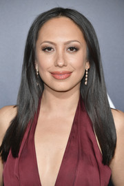 Cheryl Burke wore her hair loose and straight with a center part at the premiere of 'La La Land.'
