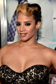 Dascha Polanco went retro-glam with this sculpted updo at the 'Perfect Match' premiere.