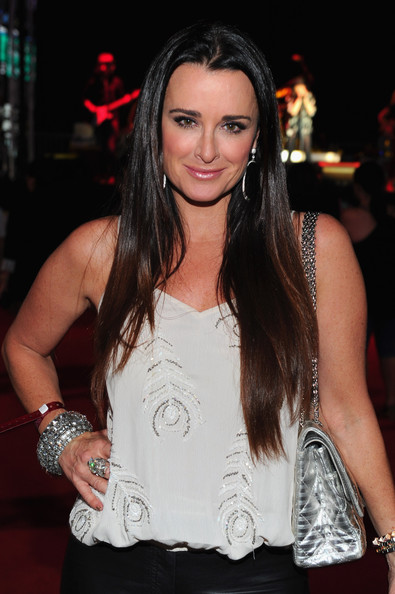 Kyle Richards attended the premiere of Los Angeles 'Food & Wine' with her shiny locks long and flowing.