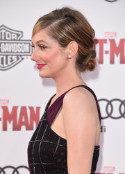 Judy Greer glammed up her look with this twisted bun for the 'Ant-Man' premiere.