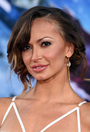 Karina Smirnoff opted for a messy-romantic updo when she attended the 'Guardians of the Galaxy' premiere.