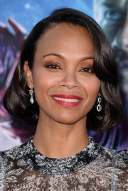 Zoe Saldana wore a vintage-inspired faux bob at the 'Guardians of the Galaxy' premiere.