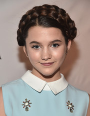 Chloe East went for old school elegance with this crown braid at the premiere of 'Jessica Darling's It List.'