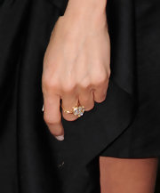 Jennifer Aniston showed off a diamond cocktail ring while hitting 'The Switch' premiere.
