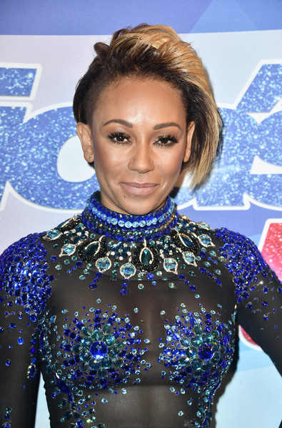 Melanie Brown rocked a side-shaved bob at the premiere of 'America's Got Talent' season 12.