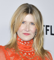 Laura Dern framed her face with a center-parted, layered cut for the premiere of 'Marriage Story.'