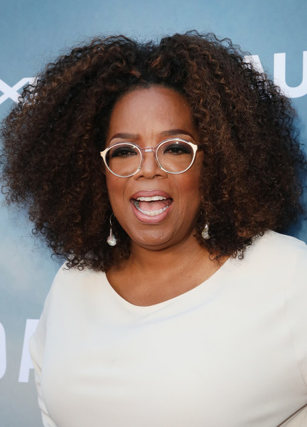 Oprah Winfrey attended the premiere of 'David Makes Man' wearing an afro.
