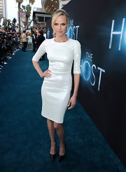Who says you need color to make a red carpet statement? Just ask Rachel Roberts who sported this crisp white dress on the carpet of 'The Host.'