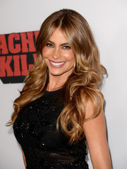 Sofia Vergara looked breathtaking with her long feathered curls at the 'Machete Kills' premiere.