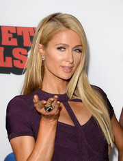 Paris Hilton opted for a sleek straight side-parted 'do when she attended the 'Machete Kills' premiere.