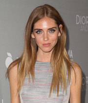 Chiara Ferragni kept it sleek and stylish with this straight center-parted hairstyle at the 'Dior and I' premiere.