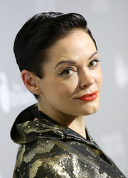 Rose McGowan rocked wet-look hair at the premiere of 'Dior and I.'