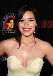 America Ferrera attended the 'Cesar Chavez' premiere wearing a romantic loose updo.