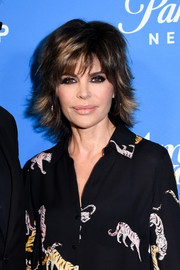 Lisa Rinna sported her usual layered razor cut at the premiere of 'American Woman.'
