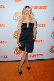 Chelsea went for a sophisticated look in this black cocktail dress at the 'Fun Size' premiere in Hollywood.