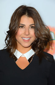 Daniella Monet wore her luscious waves down for the premiere of 'Fun Size'.