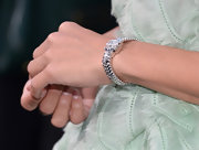 Elodie Yung brought out the bling with this sparkly diamond bracelet.