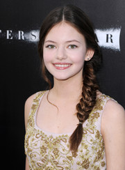 Mackenzie Foy pulled her hair back into a charming fishtail braid for the 'Interstellar' premiere.