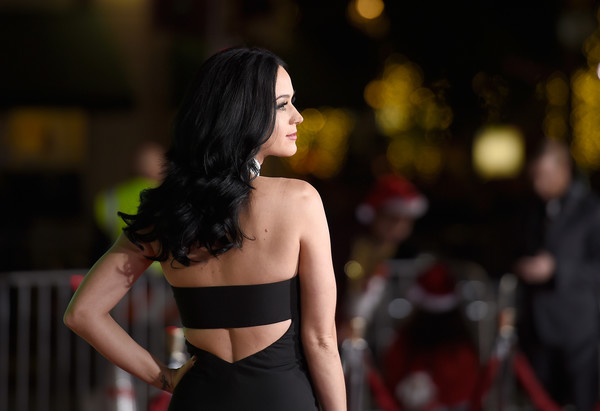 More Pics of Katy Perry Evening Pumps (1 of 11) - Katy Perry Lookbook - StyleBistro [shoulder,beauty,fashion,lady,model,dress,joint,black hair,abdomen,brown hair,katy perry,arrivals,california,regency village theatre,paramount pictures,office christmas party,westwood,premiere,premiere]