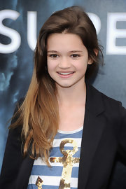 Ciara Bravo styled her hair in a simple side sweep for the 'Super 8' premiere.
