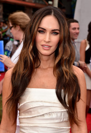 Megan Fox sported gorgeous goddess waves at the premiere of 'Teenage Mutant Ninja Turtles.'